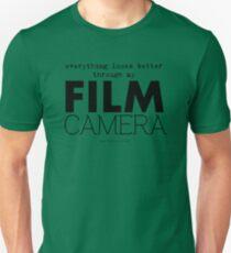 """Everything looks better through my film camera"" Unisex T-Shirt"