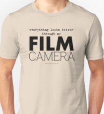 """Everything looks better through my film camera"" Unisex T-Shirt"