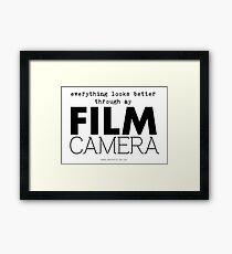 """Everything looks better through my film camera"" Framed Print"