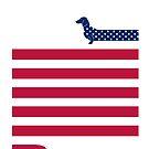 Dachshund Patriot by HenryWine