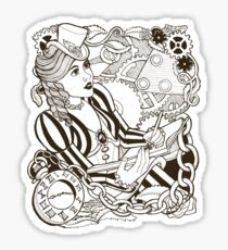 I Dream in Cogs and Roses Sticker