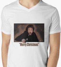 """""""Merry Christmas love from Hans"""" Men's V-Neck T-Shirt"""
