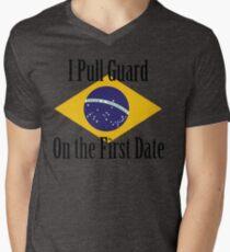 First Date BJJ (Black) Men's V-Neck T-Shirt