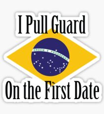 First Date BJJ (Black) Sticker