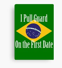 First Date BJJ (White) Canvas Print