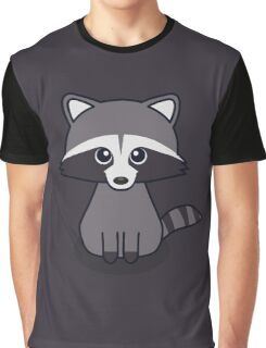 Cute Racoon Graphic T-Shirt