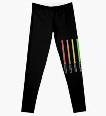 What Color is Your LightSaber Star Wars Rainbow Leggings