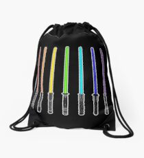 What Color is Your LightSaber Star Wars Rainbow Drawstring Bag