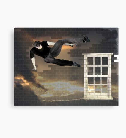 just another parkour in the wall Canvas Print
