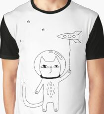 Space Cat Graphic T-Shirt