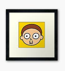 Morty Face Framed Print