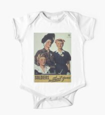 Vintage poster - Soldiers without guns Kids Clothes