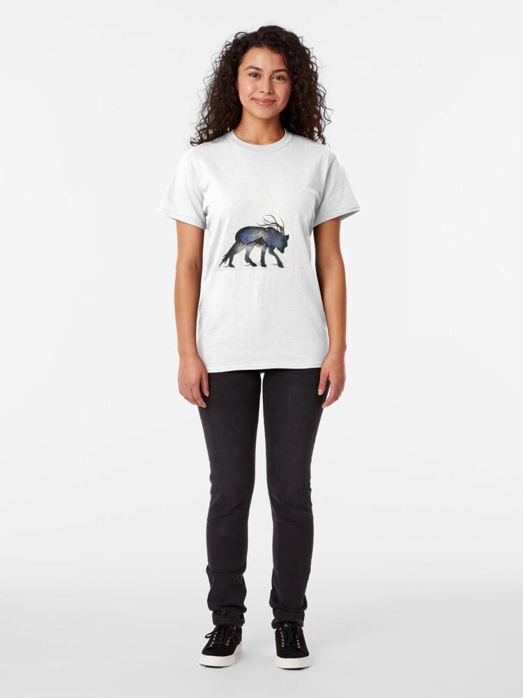 Alternate view of Alaskan Galaxy Wolf. Classic T-Shirt