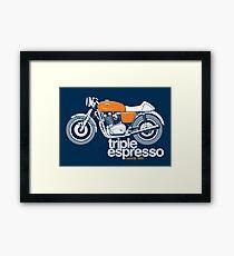 Triple Espressoo Laverda 3CE Cafe Racer Framed Print