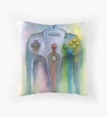 N64 Painting Throw Pillow