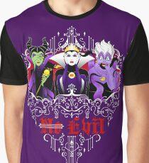Three Wise Villains (Purple) Graphic T-Shirt