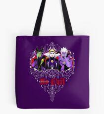 Three Wise Villains (Purple) Tote Bag