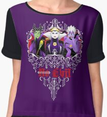 Three Wise Villains (Purple) Chiffon Top