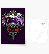 Three Wise Villains (Purple) Postcards