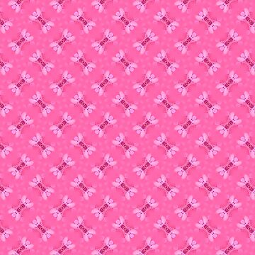 Candy Pink Textile Pattern by ARTDICTIVE