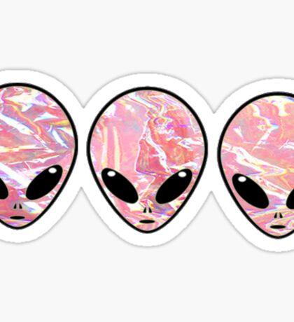 shiny aliens  Sticker
