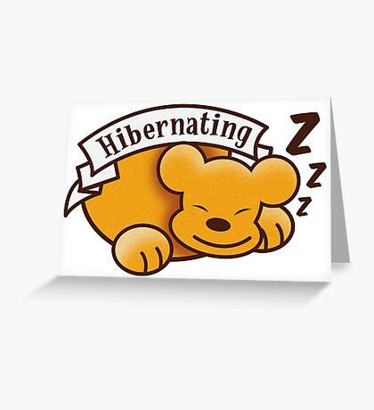 Hibernating cute sleeping bear ZZZ Greeting Card