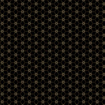 Lil bit Gold & Lots Black Pattern by ARTDICTIVE