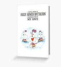 Hamilton - Fully Armed Greeting Card