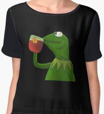 Funny Kermit That's None Of My Business Women's Chiffon Top