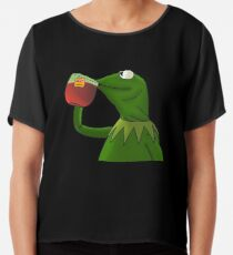 Funny Kermit That's None Of My Business Chiffon Top