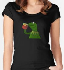 Funny Kermit That's None Of My Business Women's Fitted Scoop T-Shirt