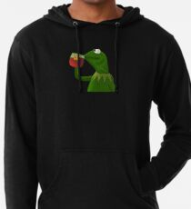 Funny Kermit That's None Of My Business Lightweight Hoodie