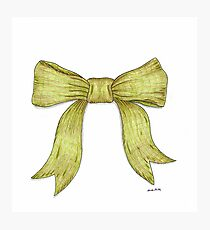 Green Ribbon Bow Photographic Print