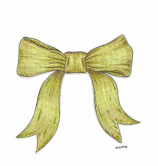 Green Ribbon Bow by Anni Parker