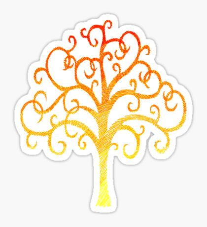 Firey Tree Sticker