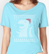 Christmas Dino Ugly Sweater T-Shirt Women's Relaxed Fit T-Shirt