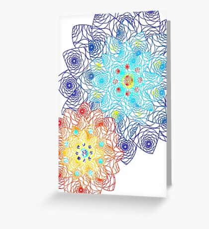 Laced Flowers Greeting Card