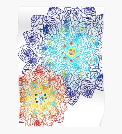 Laced Flowers Poster