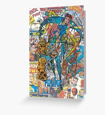 Vintage Comic Fantastic Four Greeting Card