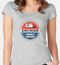 Airstream Travel Trailer Vintage Decal Women's Fitted Scoop T-Shirt
