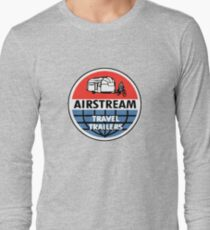 Airstream Travel Trailer Vintage Decal Long Sleeve T-Shirt