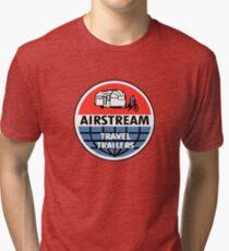 Airstream Travel Trailer Vintage Decal Tri-blend T-Shirt