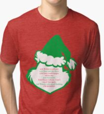 Grinch Schedule Tri-blend T-Shirt