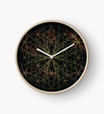 SACRED FLOWER OF LIFE Clock