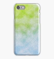 Cloudy Green and Blue iPhone Case/Skin