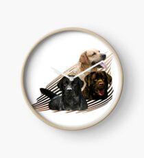 Reloj Labrador Retriever en el arte