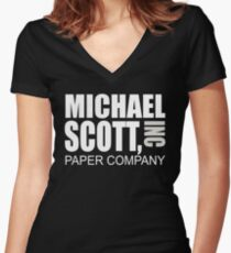 Michael Scott Paper Company - The Office Women's Fitted V-Neck T-Shirt