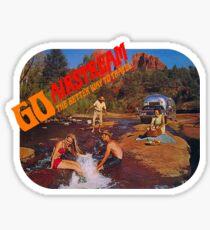 Go Airstream Travel Trailer Vintage Family Road Trip Sticker