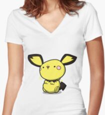 Little 1 volt Women's Fitted V-Neck T-Shirt