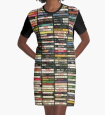 Tapes and Tapes and Tapes Graphic T-Shirt Dress